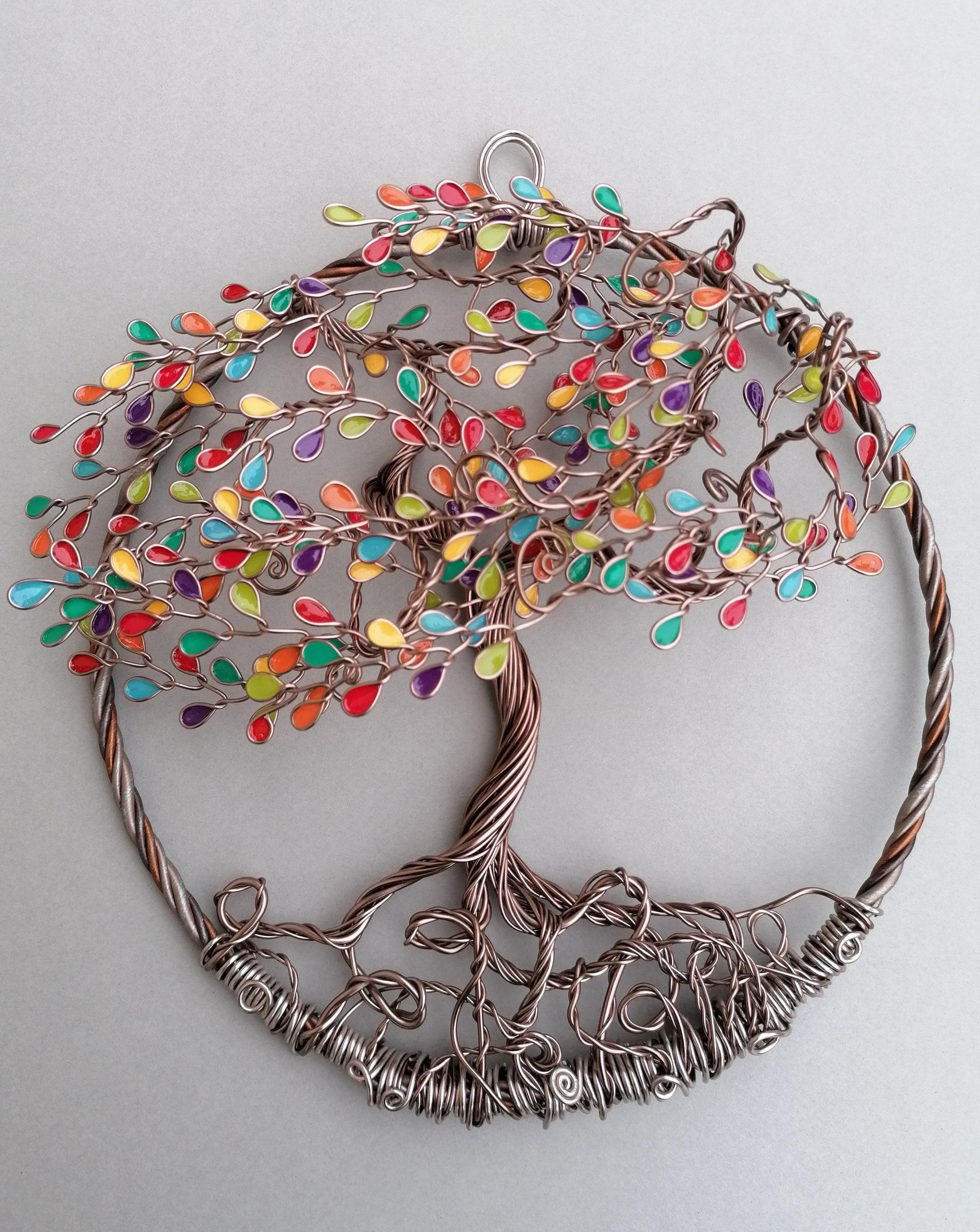 Relief 30cm – Feuilles multicolore – Marron clair