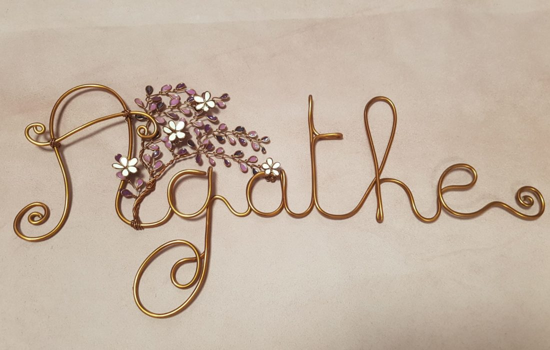 décoration cadeau naissance prénom arbre de vie