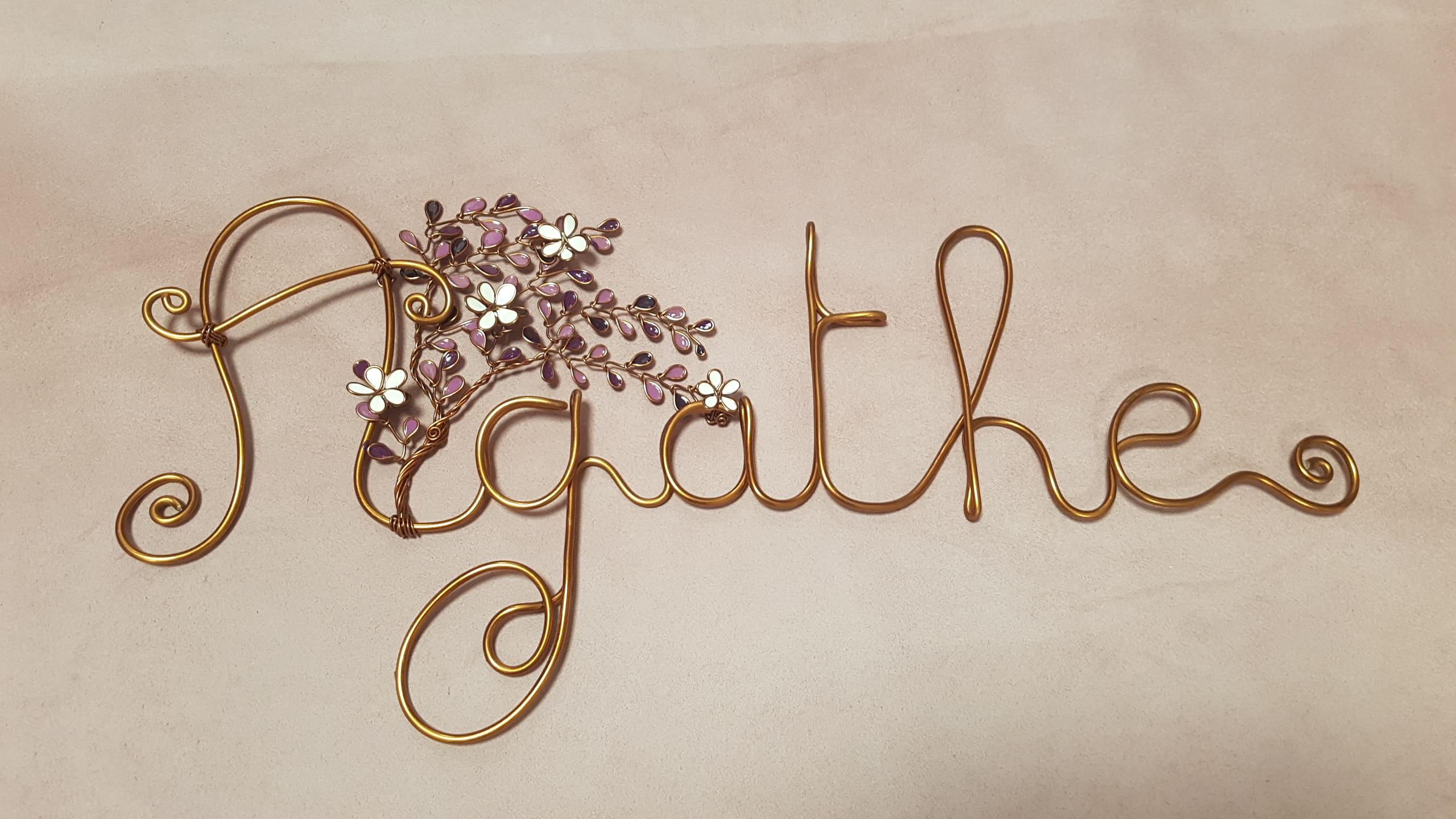 """""""Agathe"""" cuivré – Feuilles violettes – Fleurs blanches"""