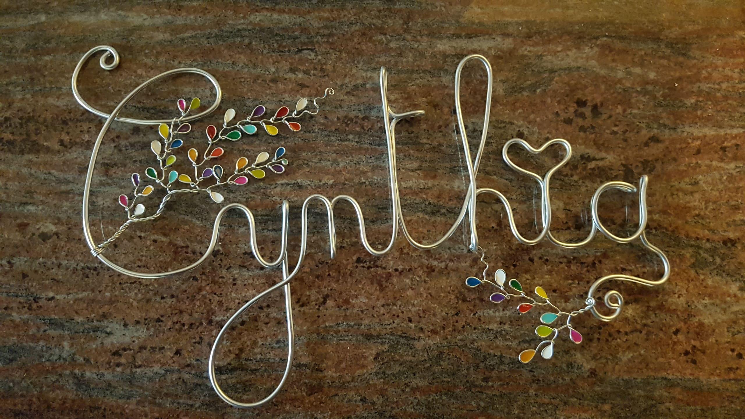 """""""Cynthia"""" argenté – Feuilles multicolores"""