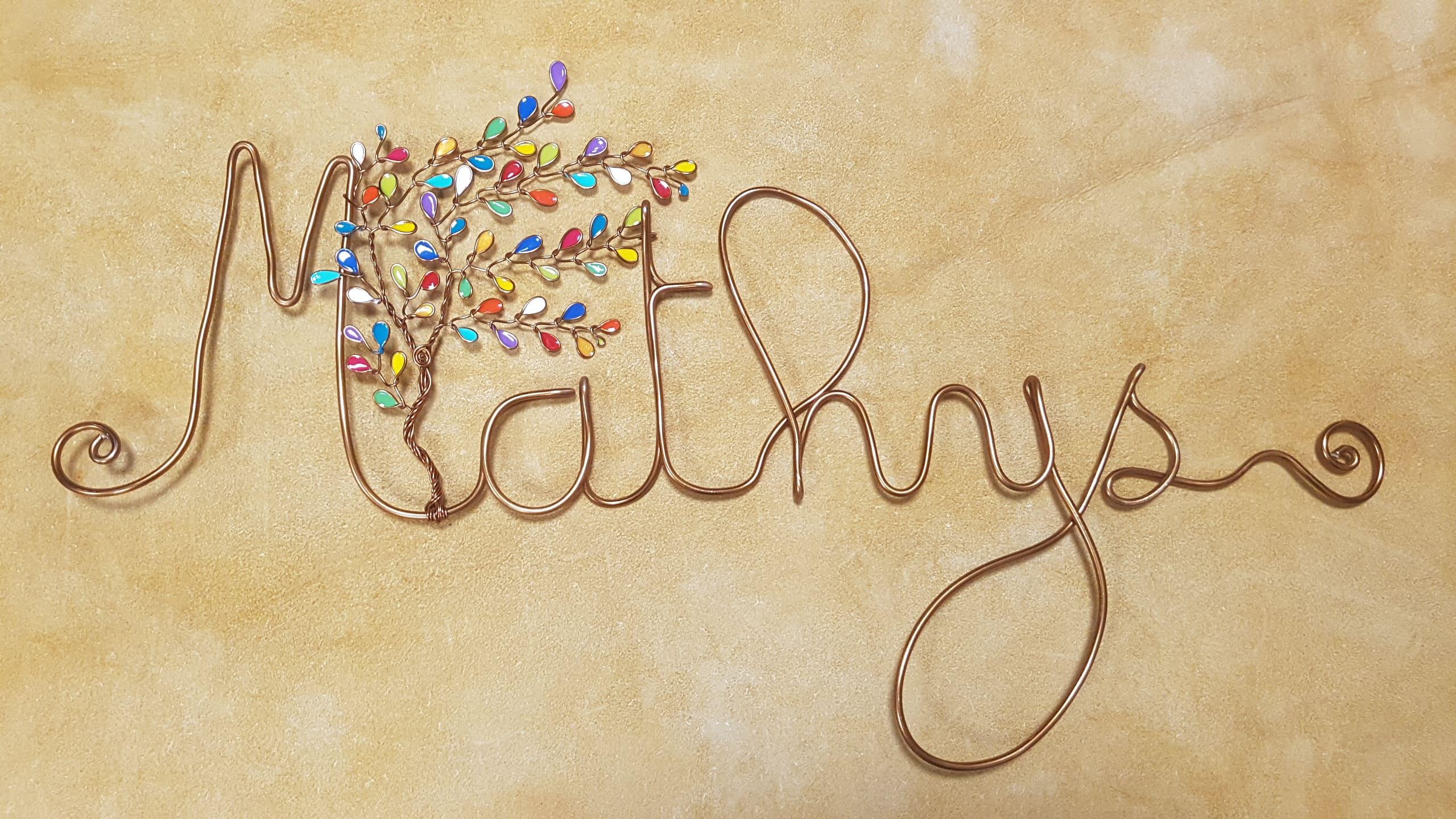 """""""Mathys"""" cuivré – Feuilles multicolore"""