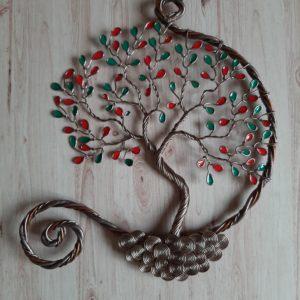 Arbre de vie alizephyr turquoise et rose