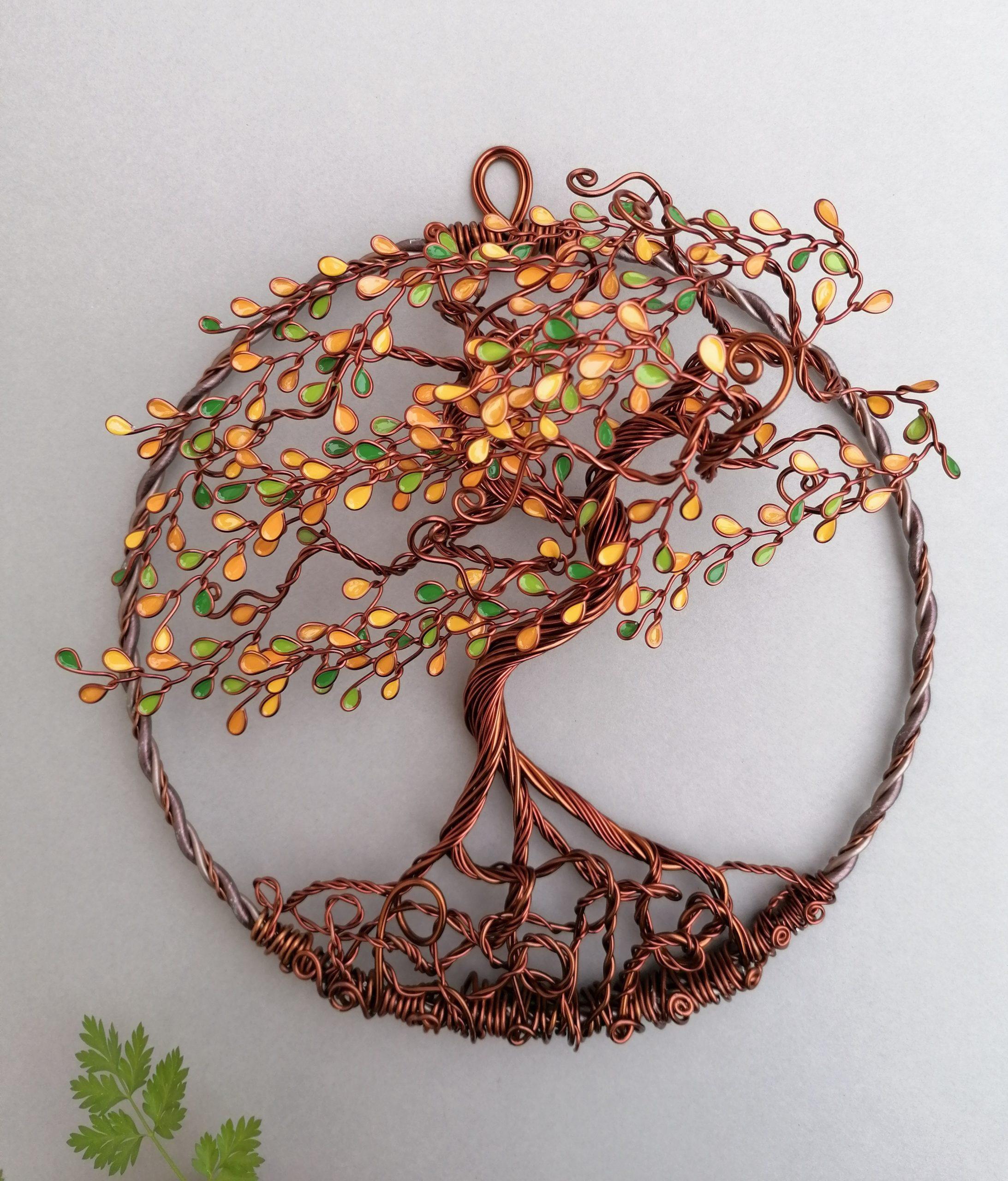 Relief 20cm – Feuilles «Début d'automne» – Cuivré