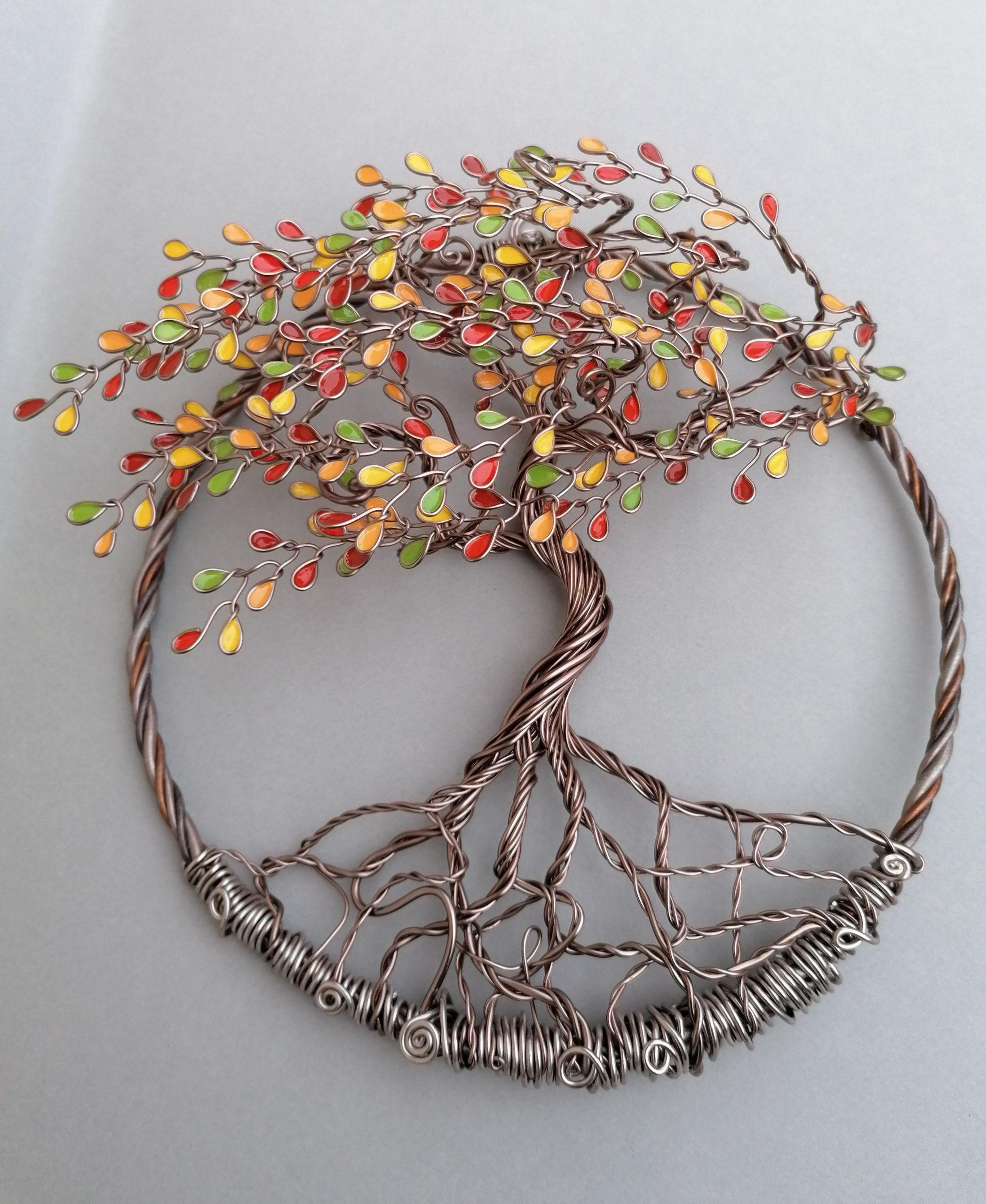 Relief 20cm – Feuilles «Début d'automne» – Marron clair