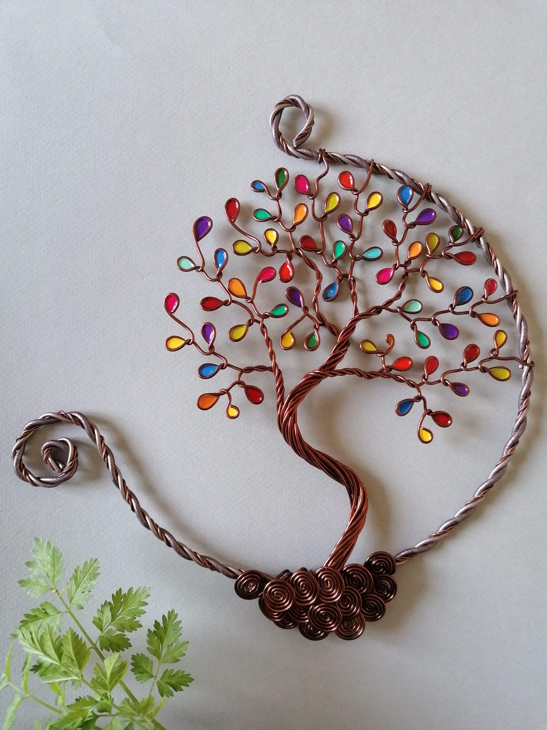20 cm – Feuilles multicolores – Cuivré – Ouvert